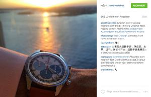 Zenith Posting Beitrag auf Instagram