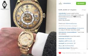 Rolex Posting Beitrag auf Instagram Facekprofil